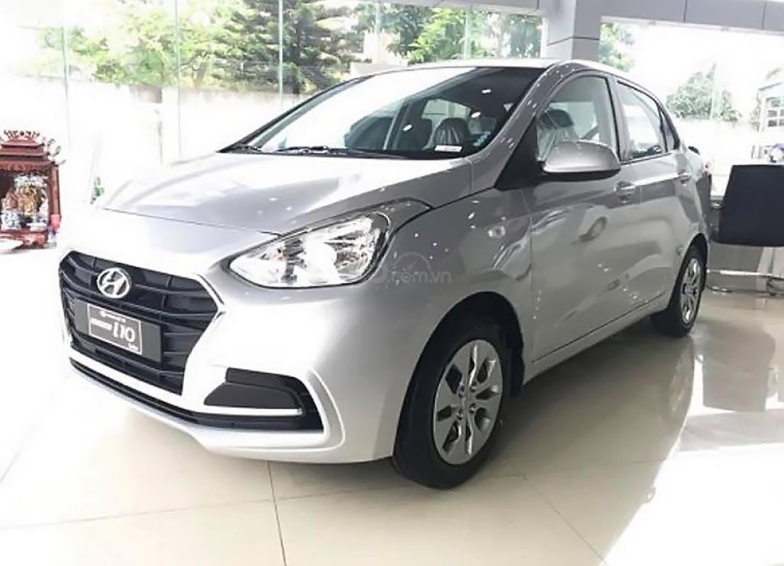 Cần bán xe Hyundai Grand i10 năm 2019, màu bạc  -0