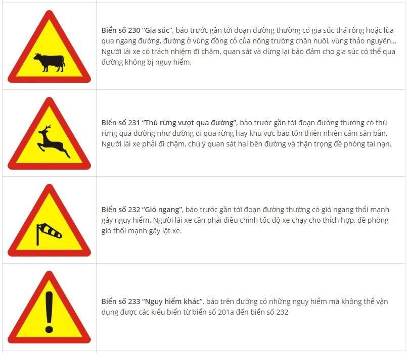 Toàn bộ biển báo nguy hiểm và ý nghĩa: Nhớ sẽ không sợ rủi roet