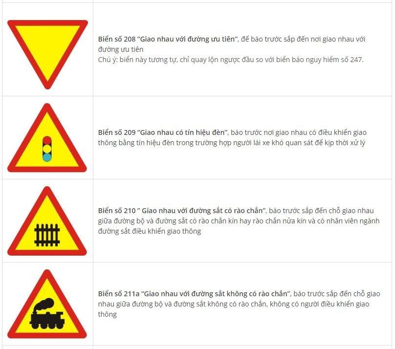 Toàn bộ biển báo nguy hiểm và ý nghĩa: Nhớ sẽ không sợ rủi rodrh