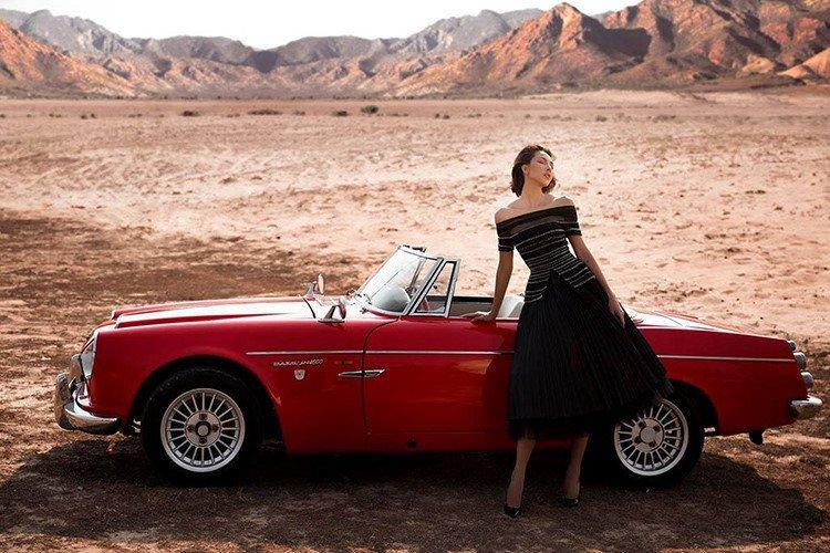 Người mẫu Minh Triệu và Hoa hậu Kỳ Duyên khoe sắc bên Datsun 1600 cổ điển - Ảnh 10.