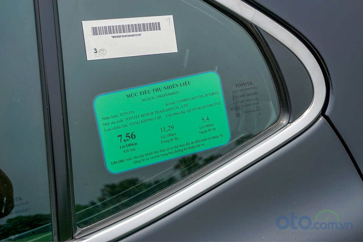 Đánh giá xe Toyota Camry 2019: Mức tiêu thụ nhiên liệu của phiên bản 2.5Q.