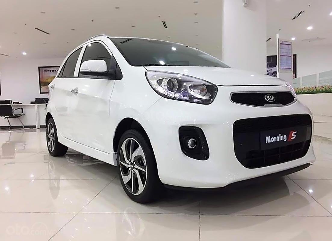 Bán Kia Morning S AT 2019, màu trắng, giá cạnh tranh-0