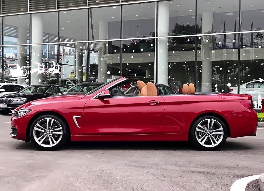 Bán xe BMW 420i Convertible mui trần mới 100%, số tự động, màu đỏ/nội thất nâu da bò-0