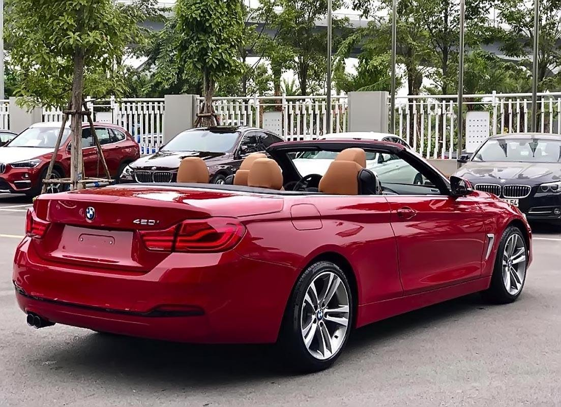 Bán xe BMW 420i Convertible mui trần mới 100%, số tự động, màu đỏ/nội thất nâu da bò-1