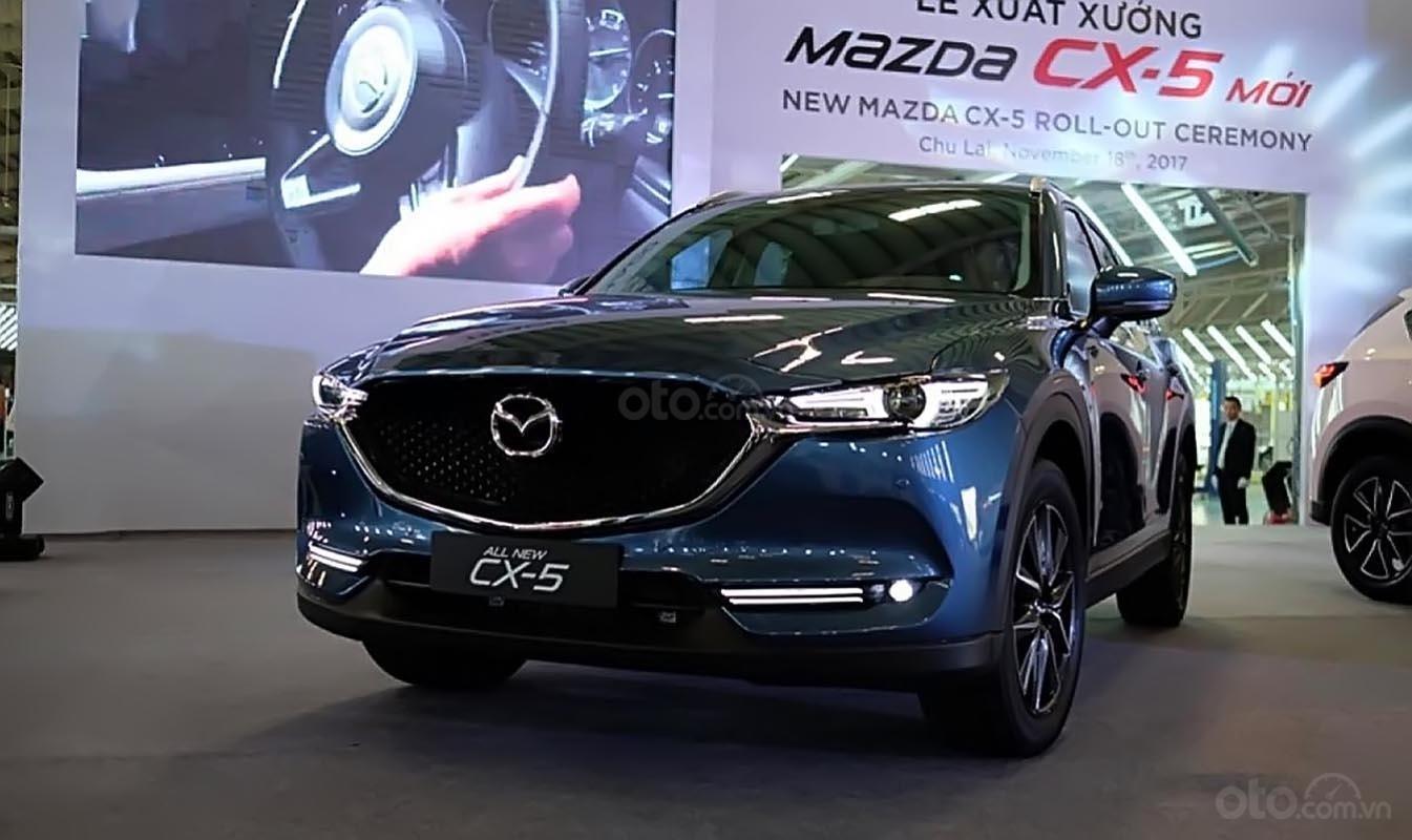 Bán xe Mazda CX 5 2.5 AT 2WD năm 2018, màu xanh lam-1