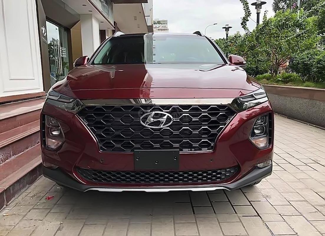 Cần bán Hyundai Santa Fe Premium 2.2L HTRAC đời 2019, màu đỏ-0