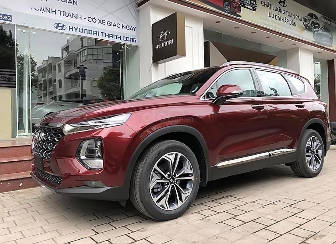 Cần bán Hyundai Santa Fe Premium 2.2L HTRAC đời 2019, màu đỏ-4