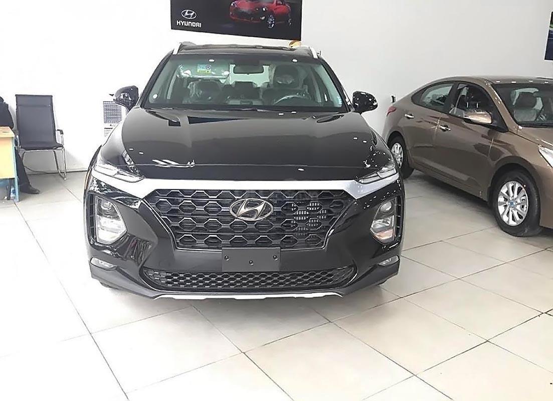 Bán ô tô Hyundai Santa Fe 2.4L 2019, màu đen, giá 995tr-0