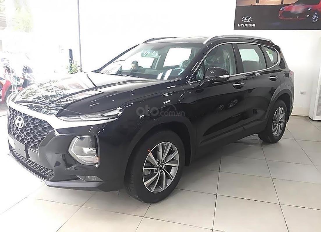 Bán ô tô Hyundai Santa Fe 2.4L 2019, màu đen, giá 995tr-1
