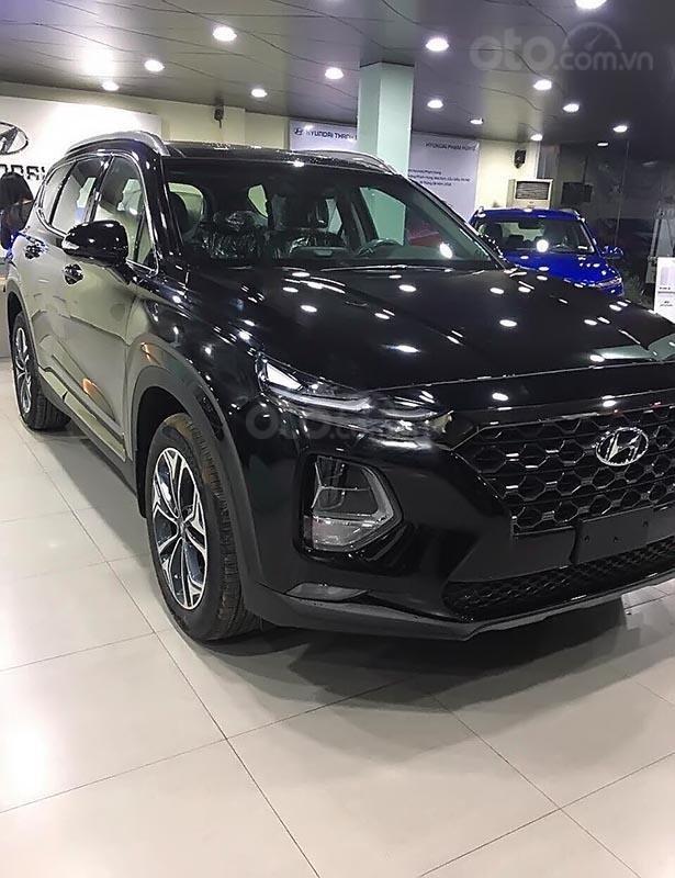 Bán ô tô Hyundai Santa Fe 2.4L HTRAC đời 2019, màu đen-0