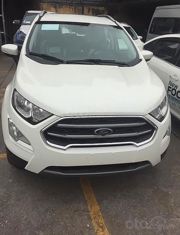 Bán ô tô Ford EcoSport Titanium 1.5L AT 2019, màu trắng, giá chỉ 600 triệu-0