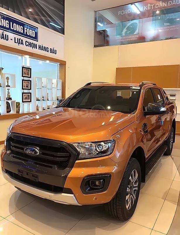 Bán Ford Ranger Wildtrak 2.0L 4x4 AT sản xuất năm 2019, màu vàng -0