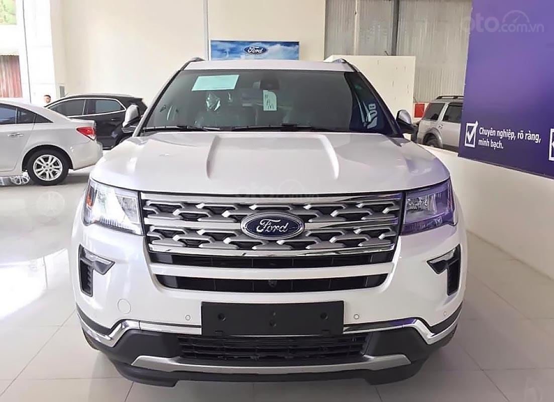 Bán Ford Explorer 2019, xe giao ngay, màu trắng, nội thất màu đen, nhập khẩu-1
