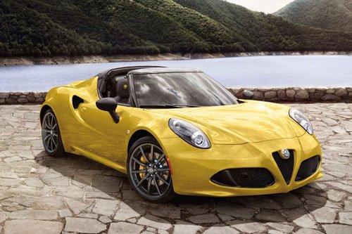 10 mẫu xe mui trần nổi bật nhất năm 2019: Alfa Romeo 4C Spider 2019.