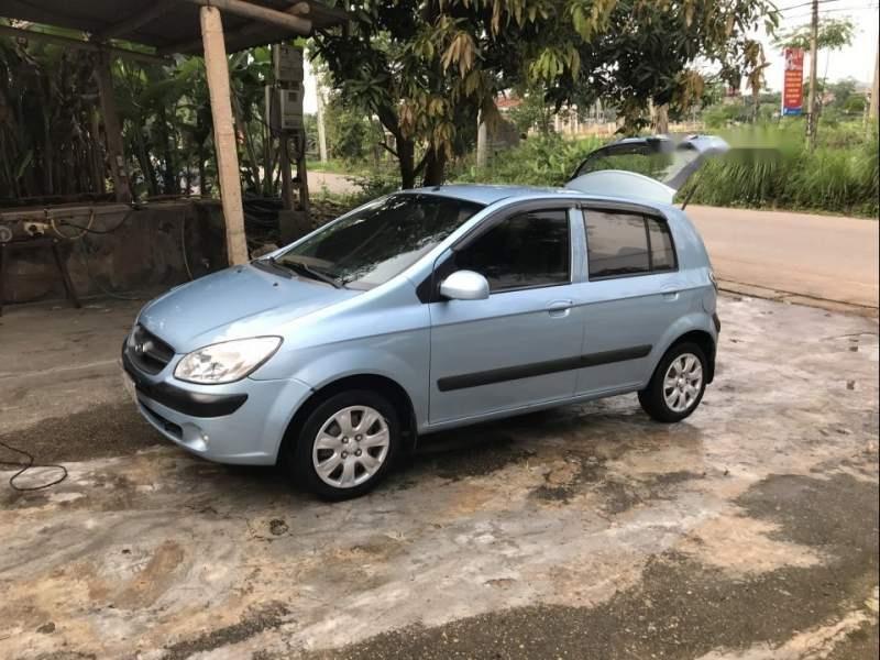 Gia đình bán Hyundai Getz đời 2010, màu xanh lam, xe nhập số tự động-0