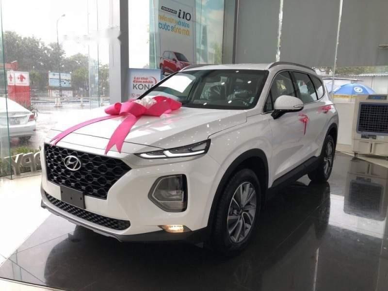 Bán Hyundai Santa Fe đời 2019, màu trắng, giá 995tr-0