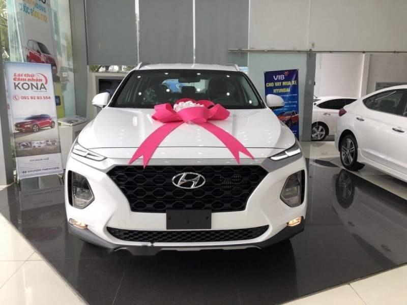 Bán Hyundai Santa Fe đời 2019, màu trắng, giá 995tr-1