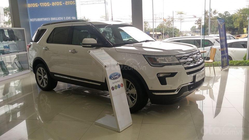 Tặng: BHVC, phim, bệ bước điện, camera, phủ ceramic, xịt gầm, lót sàn khi mua xe Ford Explorer 2019, LH: 091.888.9278-5
