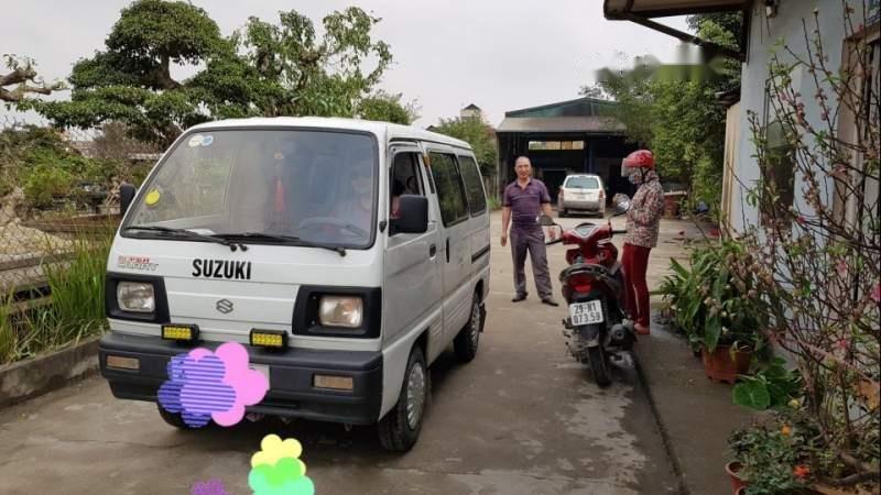 Bán Suzuki Super Carry Van 2002, màu trắng chính chủ, giá tốt-0