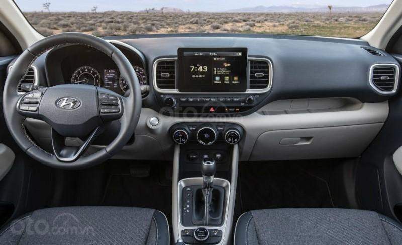 Nội thất xe Hyundai Venue bản Mỹ.