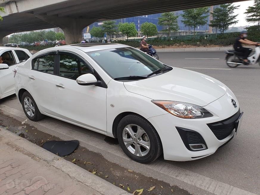 Bán ô tô Mazda 3 1.6AT sedan SX 2011, màu trắng, nhập khẩu, giá 435tr-1