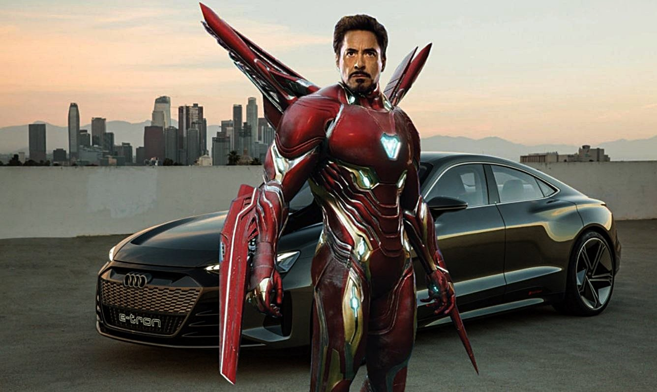 Iron-Man và Audi e-tron trong phim Avengers Endgame...
