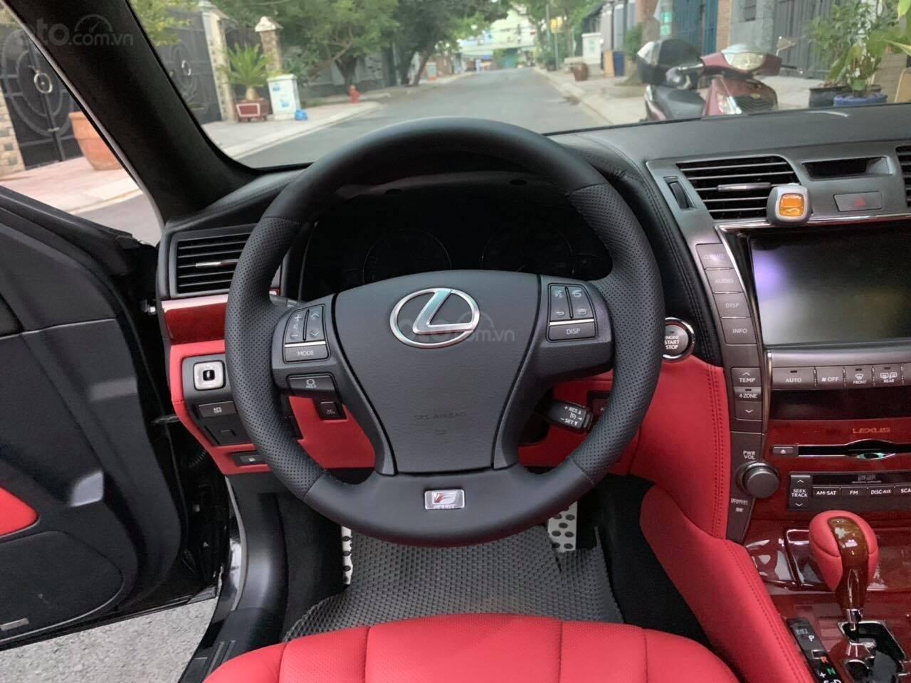 Bán Lexus LS460L sản xuất 2007 lên model 2016 màu đen nội thất đỏ-3