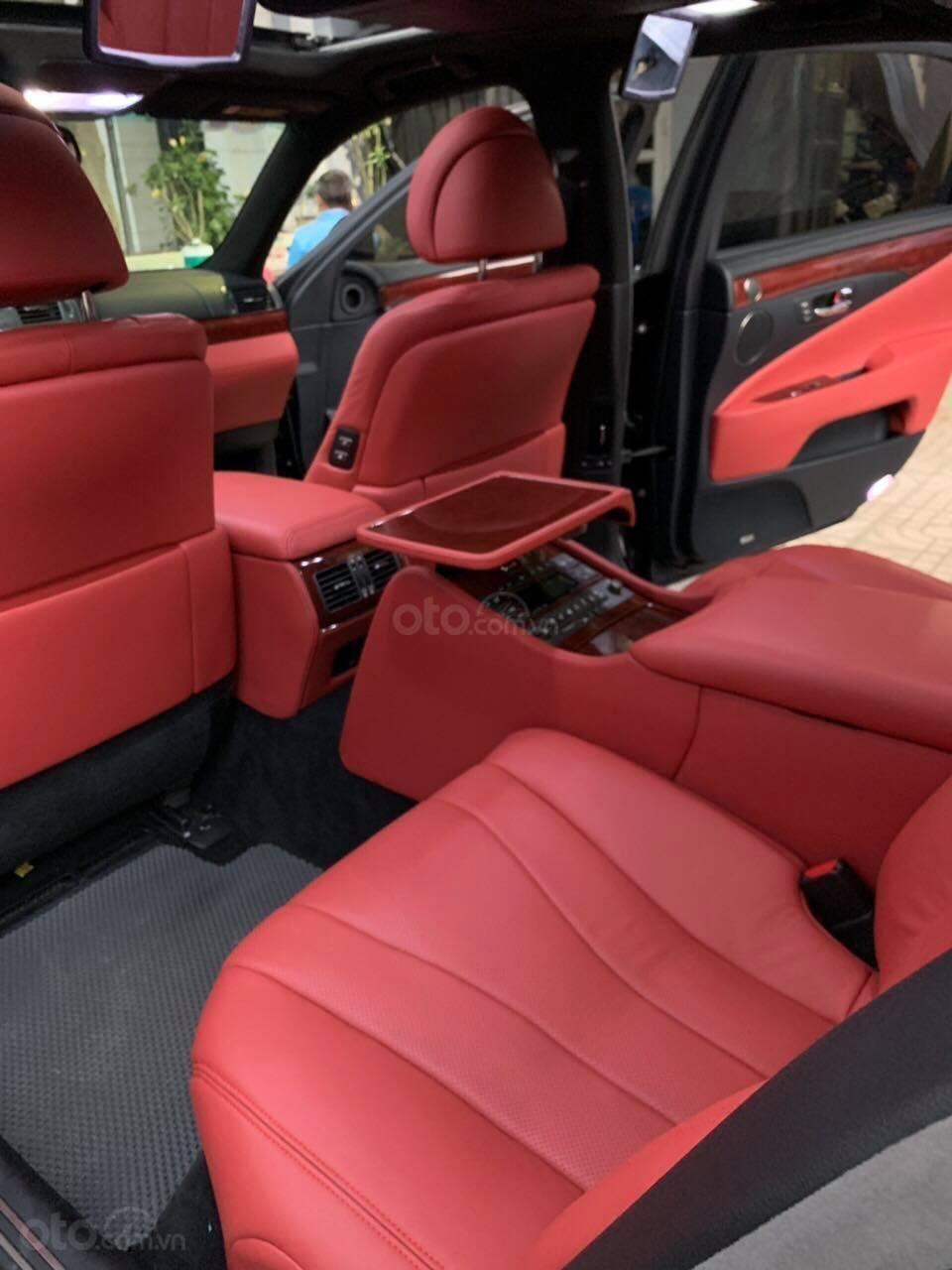 Bán Lexus LS460L sản xuất 2007 lên model 2016 màu đen nội thất đỏ-10