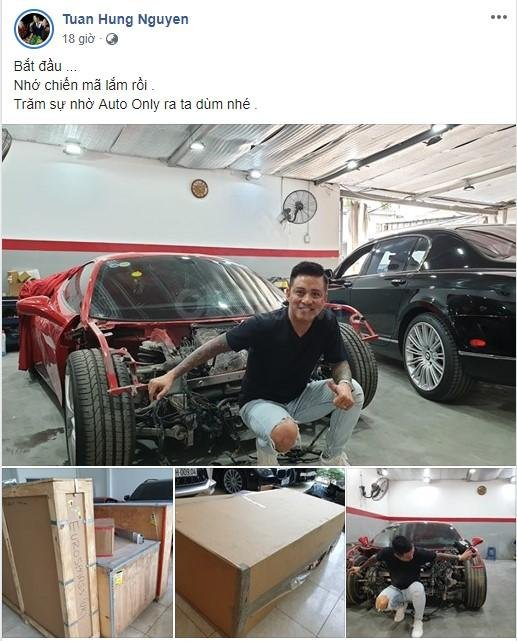 Ferrari 488 GTB gặp nạn của Tuấn Hưng sắp được tân trang a1