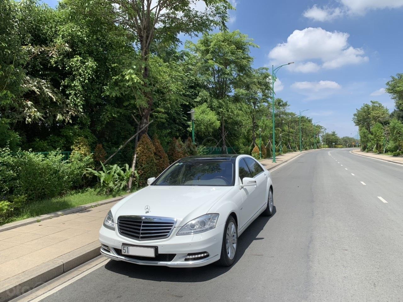 Mercedes S400 Hybrid 2012 nhập khẩu màu trắng, nội thất kem-1