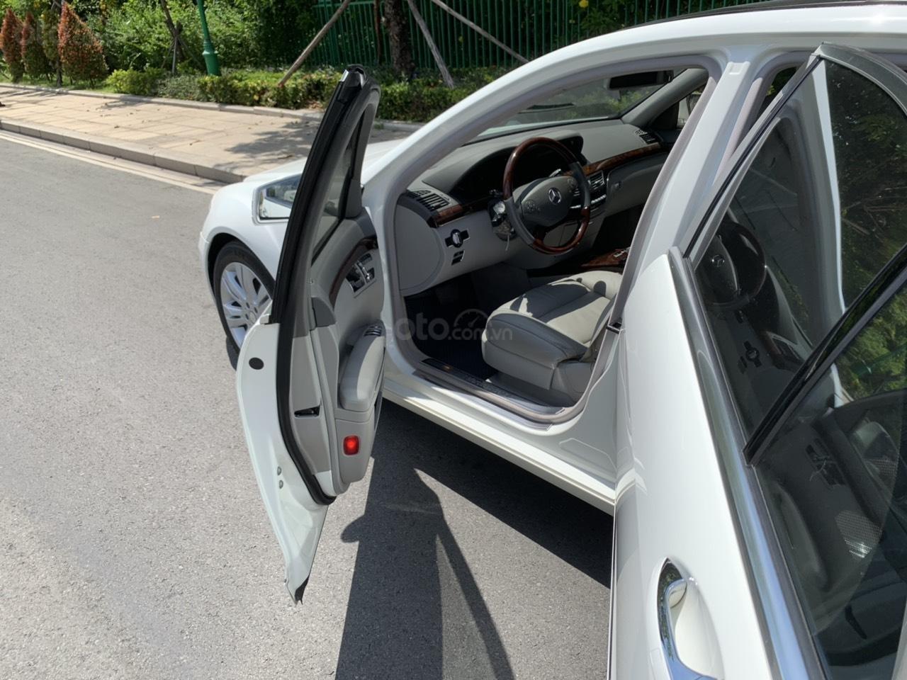Mercedes S400 Hybrid 2012 nhập khẩu màu trắng, nội thất kem-6