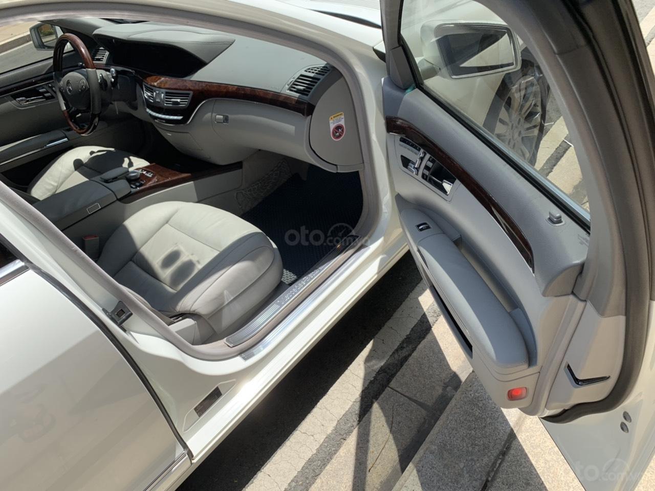 Mercedes S400 Hybrid 2012 nhập khẩu màu trắng, nội thất kem-10