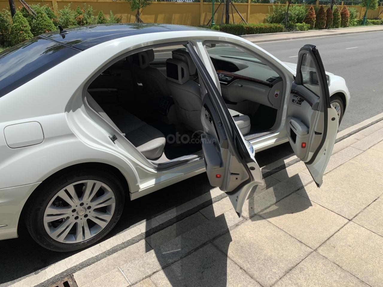 Mercedes S400 Hybrid 2012 nhập khẩu màu trắng, nội thất kem-9