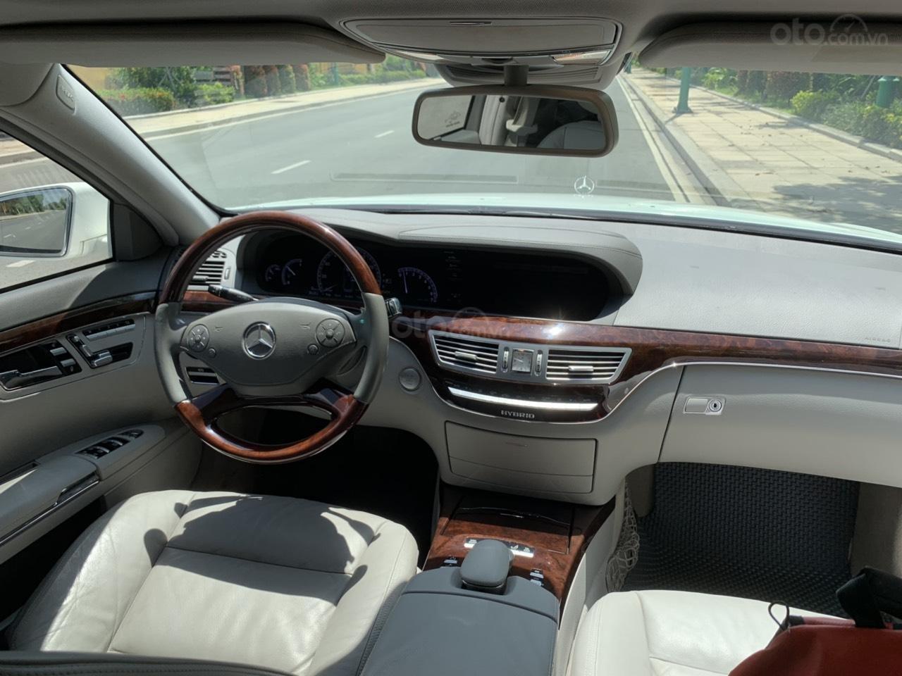 Mercedes S400 Hybrid 2012 nhập khẩu màu trắng, nội thất kem-13