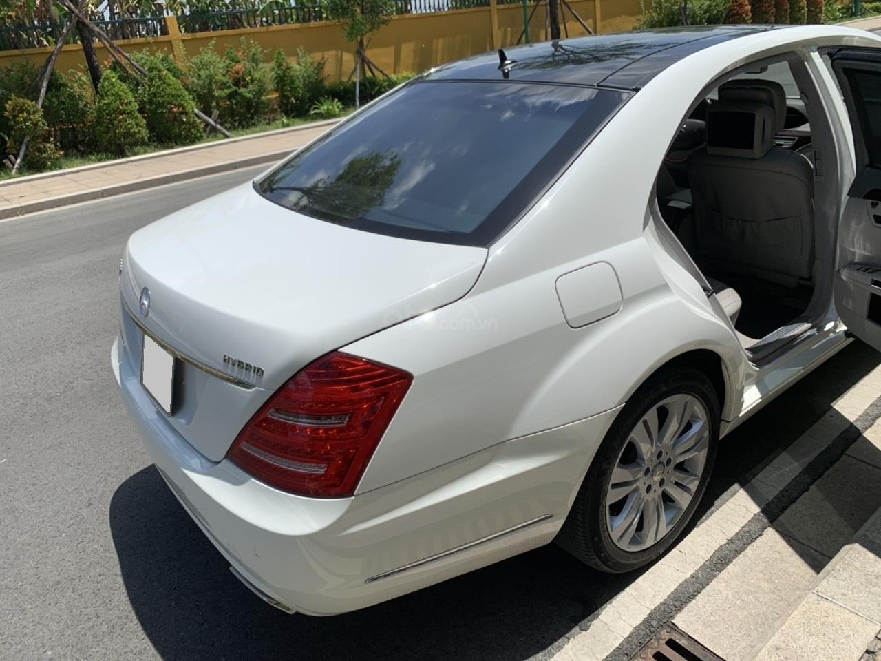 Mercedes S400 Hybrid 2012 nhập khẩu màu trắng, nội thất kem-15