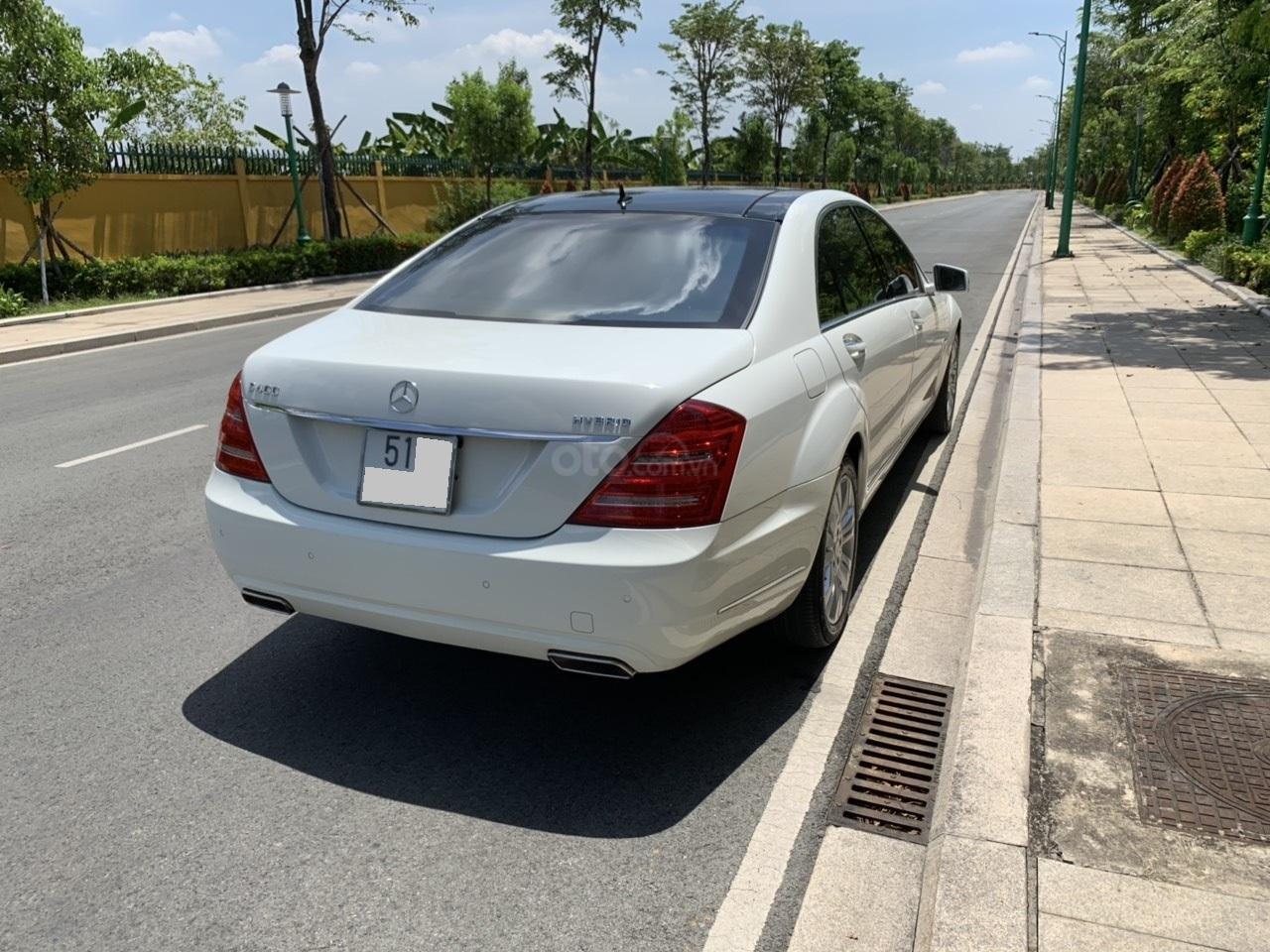 Mercedes S400 Hybrid 2012 nhập khẩu màu trắng, nội thất kem-17