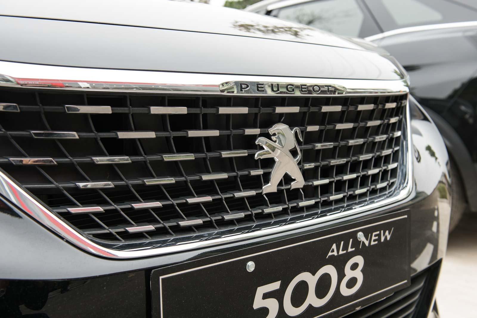 Ảnh chụp lưới tản nhiệt xe Peugeot 5008 2018-2019