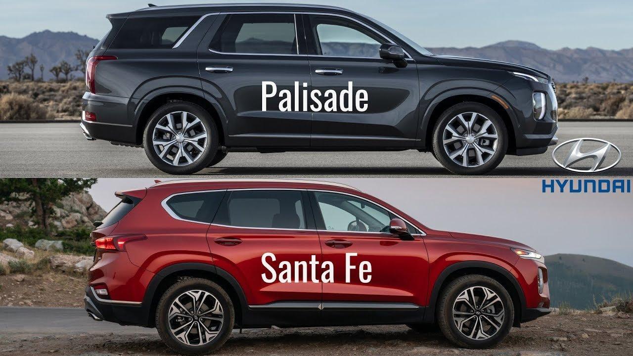 Nhìn nhanh thông số xe Hyundai Palisade và Santa Fe 2019 a1