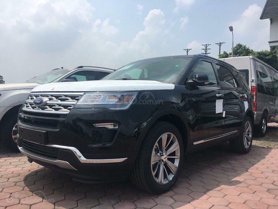 Bán Ford Explorer 2019, nhập khẩu, màu đen giao ngay, trả góp 90%. LH 0978212288-1