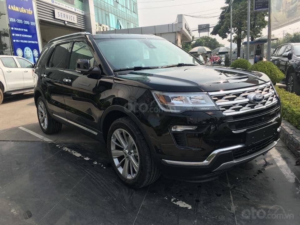 Bán Ford Explorer 2019, nhập khẩu, màu đen giao ngay, trả góp 90%. LH 0978212288-0