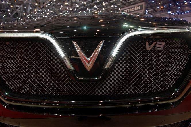 Ảnh chụp lưới tản nhiệt xe VinFast LUX V8 2019
