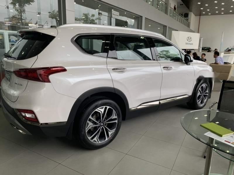 Bán xe Hyundai Santa Fe sản xuất 2019, màu trắng-3