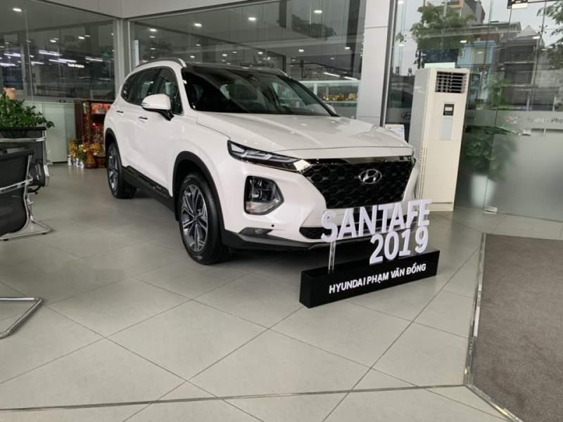 Bán xe Hyundai Santa Fe sản xuất 2019, màu trắng-1