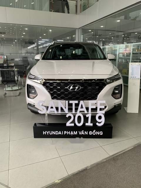 Bán xe Hyundai Santa Fe sản xuất 2019, màu trắng-0