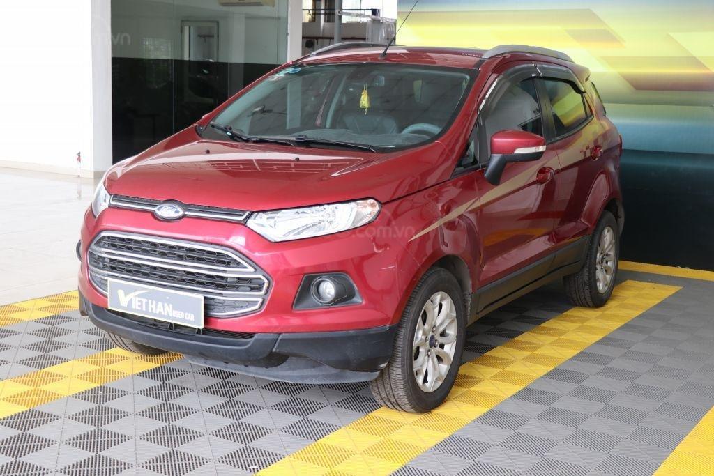 Bán Ford EcoSport 1.4AT sản xuất năm 2017, màu đỏ-0