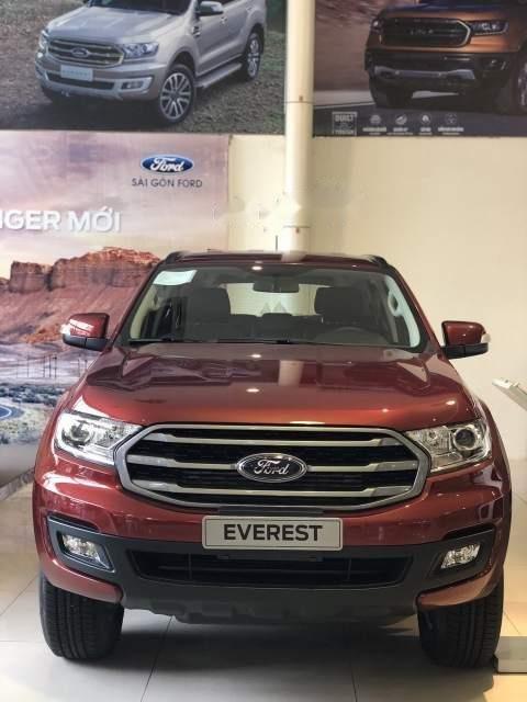 Bán ô tô Ford Everest Ambient đời 2019, màu đỏ, xe nhập, mới 100%-1
