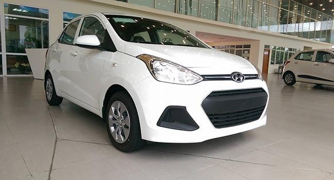 Hyundai Grand I10 Sedan trắng lấy xe ngay chỉ với 130tr, lãi suất chỉ 0.75%/ tháng, hỗ trợ đăng ký Grab. LH: 0903175312-0