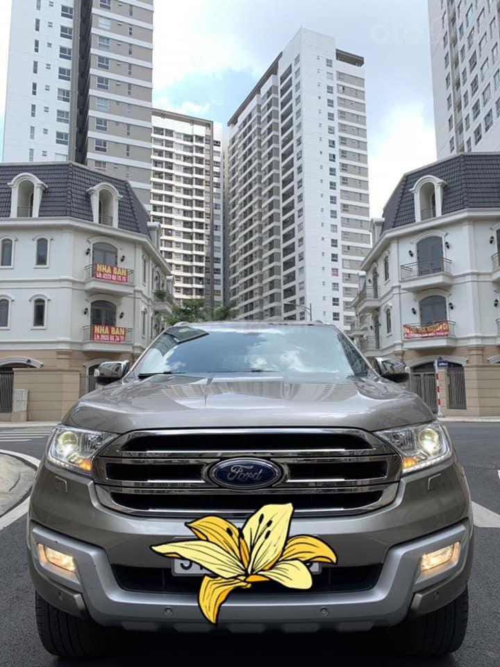 Bán ô tô Ford Everest Titanium 2.2L năm sản xuất 2016, màu vàng, nhập khẩu-1