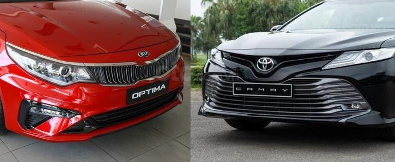 So sánh Toyota Camry 2.5Q 2019 và Kia Optima GT-Line 2019...
