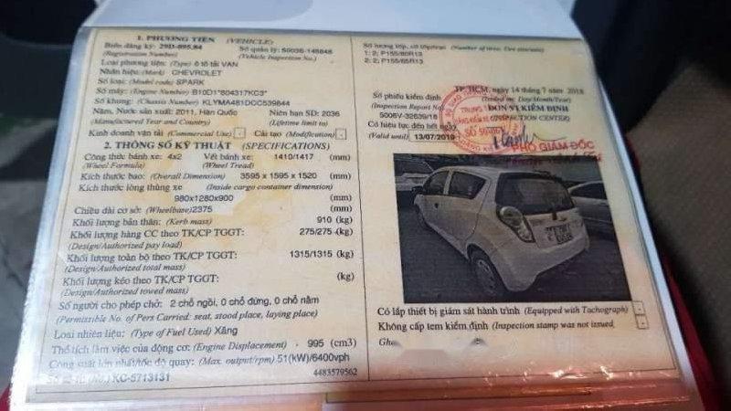 Bán Chevrolet Spark Van 2011, màu trắng, nhập khẩu -4